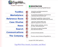 Ergoweb Home Page in 1995