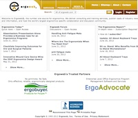 ergonomic assessment software ergoweb company history. Black Bedroom Furniture Sets. Home Design Ideas
