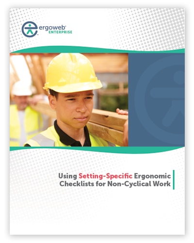 Using Setting-Specific Ergonomic Checklists for Non-Cyclical Work
