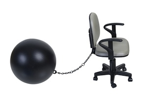 a ball and chair