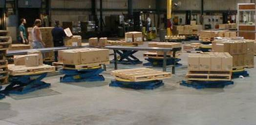 Sort to pallet lifts